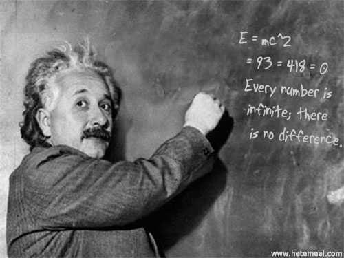 Einstein engages in Thelemic mathematics