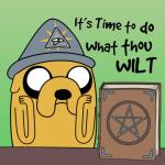 Adventure time Aleister Crowley do what thou wilt