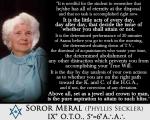 Soror Meral IX° O.T.O., 5°=6☐ A∴A∴ (a.k.a. Phyllis Seckler)