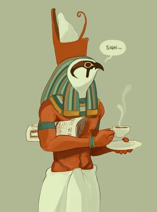 Horus needs caffeine