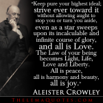 Aleister Crowley on the Law of Liberty