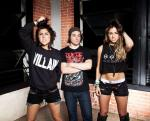 The band Krewella shows off a Unicursal Hexagram t-shirt